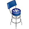 University of Kentucky Swivel Bar Stool with Back - Wordmark