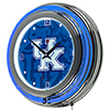 University of Kentucky Chrome Double Rung Neon Clock - Fade