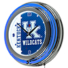 University of Kentucky Chrome Double Rung Neon Clock - Text