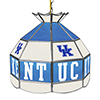 University of Kentucky 16 Inch Handmade Stained Glass Lamp - White