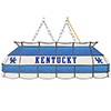 University of Kentucky Handmade Stained Glass Lamp - 40 Inch - Blue