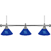University of Kentucky 3 Shade Chrome Billiard Lamp - UK