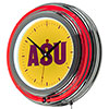 Arizona State University Chrome Double Rung Neon Clock