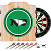 University of North Dakota Dart Cabinet with Darts and Board