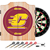 Central Michigan University Dart Cabinet w/ Darts and Board
