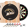Western Michigan U Dart Cabinet Includes Darts and Board