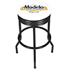 Modelo Black Ribbed Bar Stool