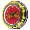NBA Chrome Double Rung Neon Clock - Fade  - Atlanta Hawks