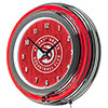 NBA Chrome Double Rung Neon Clock - City  - Atlanta Hawks