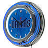 NBA Chrome Double Rung Neon Clock - Fade  - Dallas Mavericks