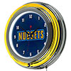 NBA Chrome Double Rung Neon Clock - Fade  - Denver Nuggets