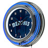 NBA Chrome Double Rung Neon Clock - Fade  - Memphis Grizzlies