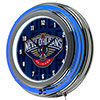 NBA Chrome Double Rung Neon Clock - City  - New Orleans Pelicans