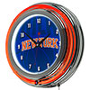 NBA Chrome Double Rung Neon Clock - Fade  - New York Knicks