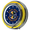 Utah Jazz NBA Chrome Double Ring Neon Clock