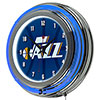 NBA Chrome Double Rung Neon Clock - Fade  - Utah Jazz