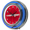 NBA Chrome Double Rung Neon Clock - Fade  - Washington Wizards