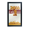 Cleveland Cavaliers 2016 NBA Champions Framed Logo Mirror