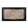 Milwaukee Bucks Official NBA Court Framed Plaque