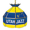 Utah Jazz NBA 16 Inch Stained Glass Lamp