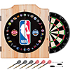 NBA Logo with All Teams Beveled Wood Dart Cabinet Set