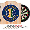 Utah Jazz NBA Wood Dart Cabinet Set