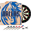 NBA Dart Cabinet Set with Darts and Board - Fade  - Dallas Mavericks
