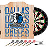 NBA Dart Cabinet Set with Darts and Board - City  - Dallas Mavericks