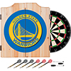 Golden State Warriors NBA Wood Dart Cabinet Set