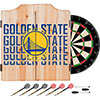 NBA Dart Cabinet Set with Darts and Board - City  - Golden State Warriors