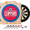 Los Angeles Clippers NBA Wood Dart Cabinet Set