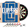 NBA Dart Cabinet Set with Darts and Board - Fade  - Los Angeles Clippers