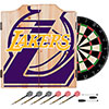 NBA Dart Cabinet Set with Darts and Board - Fade  - Los Angeles Lakers