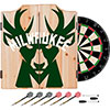 NBA Dart Cabinet Set with Darts and Board - Fade  - Milwaukee Bucks