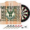 NBA Dart Cabinet Set with Darts and Board - City  - Milwaukee Bucks