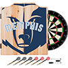 NBA Dart Cabinet Set with Darts and Board - Fade  - Memphis Grizzlies