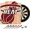 NBA Dart Cabinet Set with Darts and Board - Fade  - Miami Heat