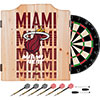 NBA Dart Cabinet Set with Darts and Board - City  - Miami Heat
