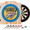 Oklahoma City Thunder NBA Wood Dart Cabinet Set