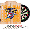 NBA Dart Cabinet Set with Darts and Board - City  - Oklahoma City Thunder