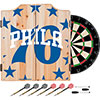 NBA Dart Cabinet Set with Darts and Board - Fade  - Philadelphia 76ers
