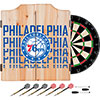 NBA Dart Cabinet Set with Darts and Board - City  - Philadelphia 76ers