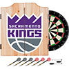 NBA Dart Cabinet Set with Darts and Board - Fade  - Sacramento Kings