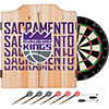 NBA Dart Cabinet Set with Darts and Board - City  - Sacramento Kings