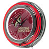 NHL Chrome Double Rung Neon Clock - Watermark - Arizona Coyotes�