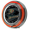 NHL Chrome Double Rung Neon Clock - Watermark - Anaheim Ducks�