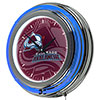 NHL Chrome Double Rung Neon Clock - Watermark - Colorado Avalanche�