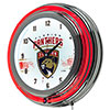 NHL Chrome Double Rung Neon Clock - Florida Panthers�