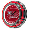 NHL Chrome Double Rung Neon Clock - Watermark - Montreal Canadiens�