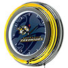 NHL Chrome Double Rung Neon Clock - Watermark - Nashville Predators�